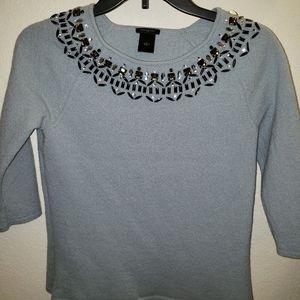 Ann Taylor powder blue jewel sweater